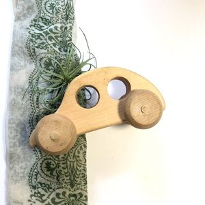 Vintage Handmade Wood Car Eco Toy Kids Decor